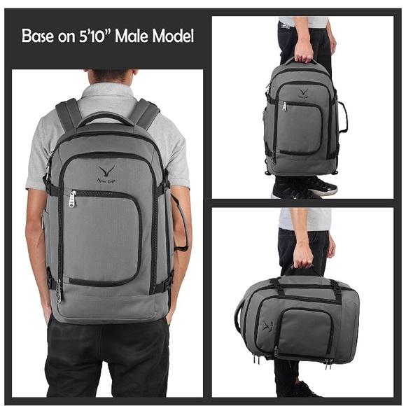 eb6770b3b00b Hynes Eagle Travel Backpack 40L Carry on Backpack NWT